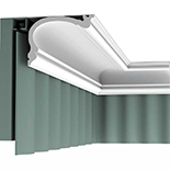Gordijn Sierlijst Orac Decor Luxxus C341