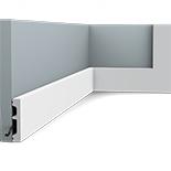 Orac Decor DX157-2300 Vloerplint| Afgelakt RAL9003 | L 230 x H 6,6 x B 1,3 cm