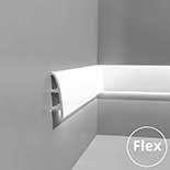 Profiel voor indirecte verlichting flexibel C374F Orac Decor Ulf Moritz